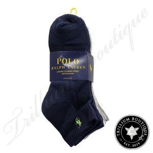 Polo Ralph Lauren Classic Sport Socks 6 Pairs NWT